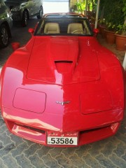 C3 Corvette with LS7 engine in the Emirates