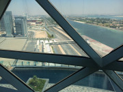View from room Capital Gate Hyatt Abu Dhabi Global High Performance visit to the middle east