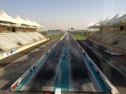 Yas Marina Drag Strip view from tower Global High Performance visit to the middle east
