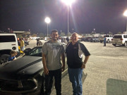 Walid Ebrahim Donny Parker Yas Marina at night Global High Performance visit to the Middle East