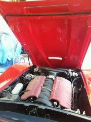 Mr. Abdulla's C3 corvette LS7 engine view