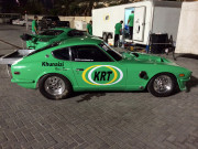 Khunaizi Racing Team Yas Marina Datsun Z drag car Global High Performance visit to the Middle East