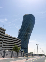 outside view Hyatt capital gate Abu Dhabi Global High Performance visit to the Middle East