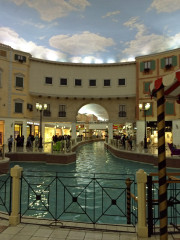 canals in the Mall in Doha Qatar Global High Performance visit to the Middle East