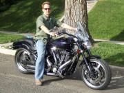 Jeremy Troggio on 2003 Yamaha Roadstar Warrior Custom motorcycle