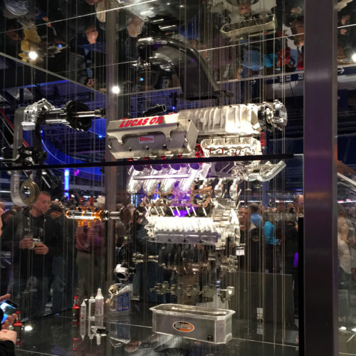 Lucas Oil Top Fuel Stadium engine display