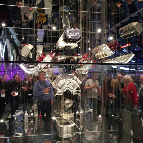 Lucas Oil Stadium top fuel engine display 2015 PRI Indianapolis