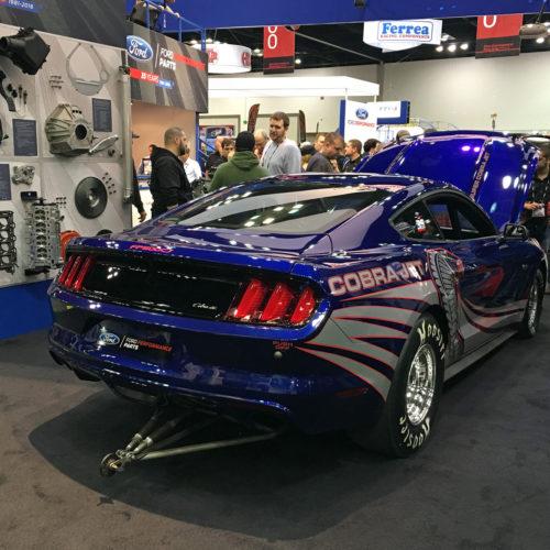 Ford Cobra Jet Mustang rear view 2015 PRI