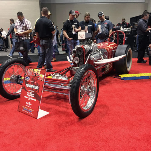 1950's slingshot dragster race car
