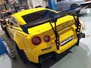 Alanabi yellow Nissa GTR Global High Performance visit to the Middle East