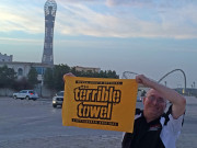 Doha Qatar Aspire torch tower Pittsburgh Steelers terrible towel Global High Performance visit to the Middle East