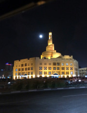 Doha Qatar Mosque at night architecture Global High Performance visit to the Middle East