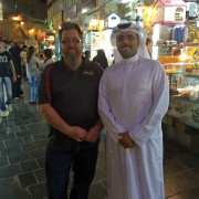 Bader Al-Sulaiti and Jordan troggio Souk Waqif Doha Qatar Global High Performance visit to the Middle East