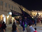 Souk Waqif stilt walkers Doha Qatar Global High Performance visit to the Middle East