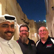 Bader Jordan Donny selfie Doha Qatar GHP Global High Performance visit to the Middle East