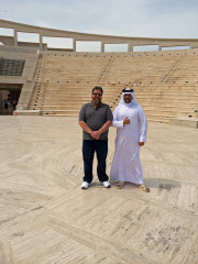 Jordan Bader Al-Sulaiti Katara Amphitheater Doha Qatar Global High Performance visit to the Middle East