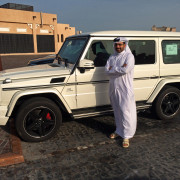Mercedes G Wagon Galandewagen AMG Doha Qatar Global High Performance visit to the Middle East