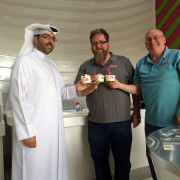 Frozen Yogurt Factory Pearl Qatar Doha Global High Performance visit to the Middle East