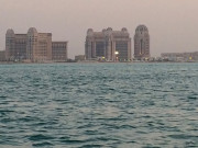 The Pearl doha at dusk Qatar Global High Performance visit to the Middle East