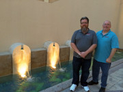 Jordan Troggio Don Parker fountain Pearl mall Doha Qatar Global High Performance visit to the Middle East