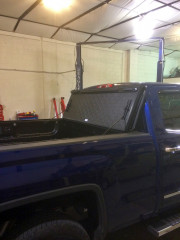 2014 GMC Sierra 1500 Bak industries Bakflip VP truck tonneau cover installation Global High Performance Folded up