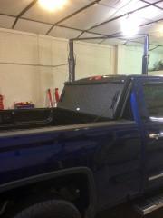 2014 GMC Sierra 1500 Bak industries Bakflip VP truck tonneau cover installation Global High Performance Folded up