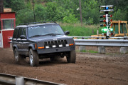 Don Parker racing his Jeep Cherokee in the dirt