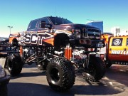 SCT Ford Superduty Monster truck at SEMA 2012 taken by Global High Performance