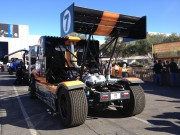Semi truck drifter track racer at SEMA 2012