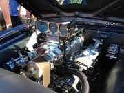 Hot Rod pontiac firebird engine with blower at SEMA 2012 taken by golbal High Performance