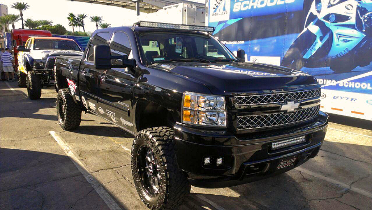 Truck black chevy truck lifted : Lifted Chevy truck in black - Global High Performance