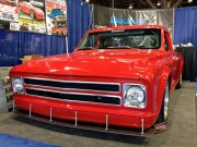 Chevy C10 pickup Street truck Drag truck SEMA 2012 taken by Global High Performance