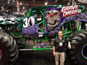 Grave Digger anniversary Monster Truck with Jeremy Troggio of Global High Performance at SEMA 2012