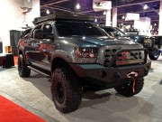 Tough looking Custom Toyota Tundra at SEMA taken by Global High Performance