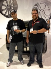 Jordan troggio and Mr. Bader Al-Sulaiti with Rolls Royce Ghost SEMA by Global High Performance