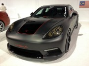 Black Porsche panamera at the Giovanni both SEMA 2012taken by Global High Performance