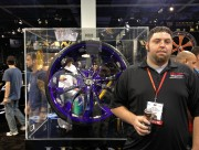 Ryan Ohrt of Global High Performance with 32 inch rim at SEMA
