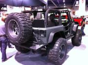 Custom Jeep Rear wheel tire carrier SEMA 2013 Global High Performance distributors