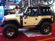 Jeep Wrangler bike roof rack SEMA 2013 GHP