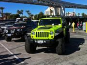 Green Jeep Wrangler Outside SEMA 2013 GHP