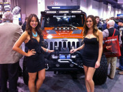 SEMA 2013 Girls with Jeep Wrangler by GHP