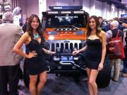 SEMA 2013 Girls with Jeep Wrangler by GHP