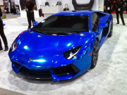 PUR Wheels Chrome blue lamborghini aventador SEMA 2013 GHP