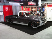 Lowered slammed Chevy C10 truck hot rod Craftsman booth SEMA 2013 by GHP
