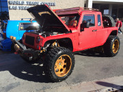Jeep Wrangler SEMA 2014 red outside GHP