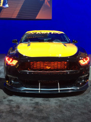 MRT Ford Mustang ecoboost LED Halo headlights SEMA 2014
