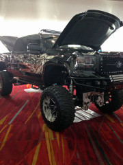 Custom Lifted Chevy Silverado SEMA 2013 Las Vegas GHP