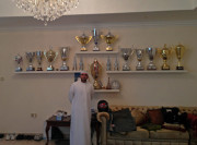 Abdulla Yas MArina drag racing trophies Abu Dhabi Global High Performance visit to the Middle East