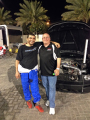 Don Parker Jr. Hisham Ebrahim Yas Marina Drag racing Global High Performance visit to the Middle East