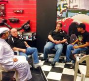 meeting at City Car Qatar Bader Al Sulaiti, Jordan Troggio Don Parker Hamed